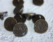 Rare - 10 Vintage Metal Buttons from gbsupplies Box - Folksy - National Ornament - Christmas Decorations