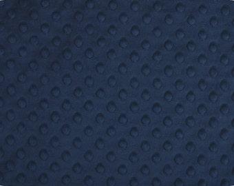 1 Yd Minky Dot Navy (Shannon Fabrics)