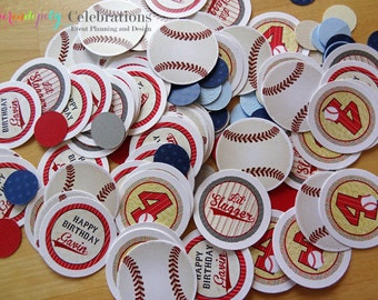 Personalized Table Confetti, Vintage Baseball Confetti -Table Minis -Baseball Party -Baseball Birthday -1st Birthday
