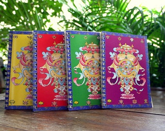 Auspicious Ring-Bound Notebook Set of Four