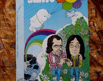 Smile Comic No 1 issued 1970 Kitchen Sink Mitchell John Lennon Richard Nixon Cover Underground Comix alternative Humor Satire