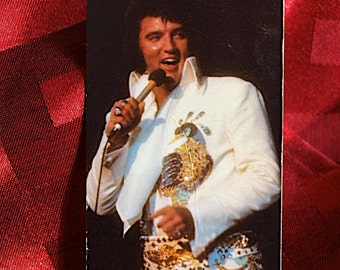 Elvis Presley 1975 Pocket Calender RCA Elvis Photo & Year Calender Card Collectible Rock n Roll Pop Icon
