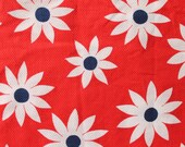 Red + White + Blue Mod Daisy Fabric