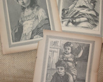 Original Antique prints from child's story book