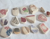 Variety of Sea Pottery, Purple, Plum, Burgandy, Sponge Design, Textured Geometric Small/ Medium for Jewelry Supplies