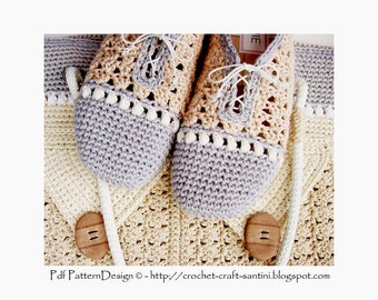 Pearl-Slippers - Basic Slipper Crochet Pattern - Istant Download