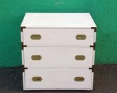 On hold for Michelle - do not purchase unless you are Michelle - Vintage White Campaign Dresser