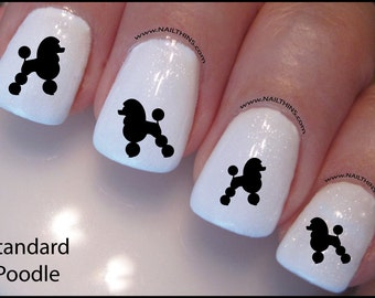 Poodle Nail Decal Dog Standard Poodle Design Nail Art