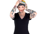 Winter hat, beanie, pom pom hat, The Brighton Pom Pom hat Multi Colored