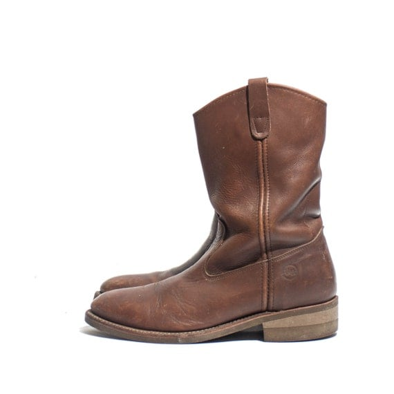 vintage hh pull on pecos work boots h by