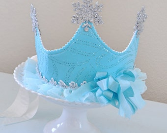 Queen Elsa inspired Snow Princess Crown, Birthday Crown, special occasion, dress up, photo prop