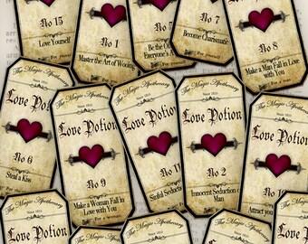 Magic Love Potion Labels - VD0209