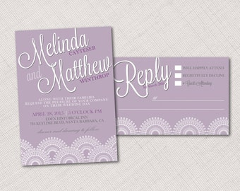 Wedding Invitation, RSVP