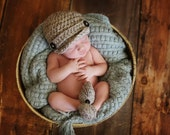 Grey Marble Newsboy Hat & Loafer Booties Set Newborn 0-3 3-6 6-12 mos Adorable Baby Boy Crocheted Shower Gift Cute Photography Prop Speckled