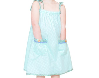 Girls Sun Dress Easy Sewing Pattern - Instant PDF Download - Multi Size Ages 1 to 5 included by Anna Vickery