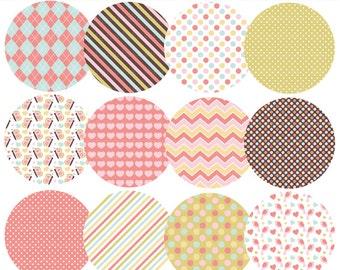 digital circles patterned pattern - Spring Elements Patterned Circles