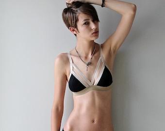 Cevian Soft Bra Black and Tan