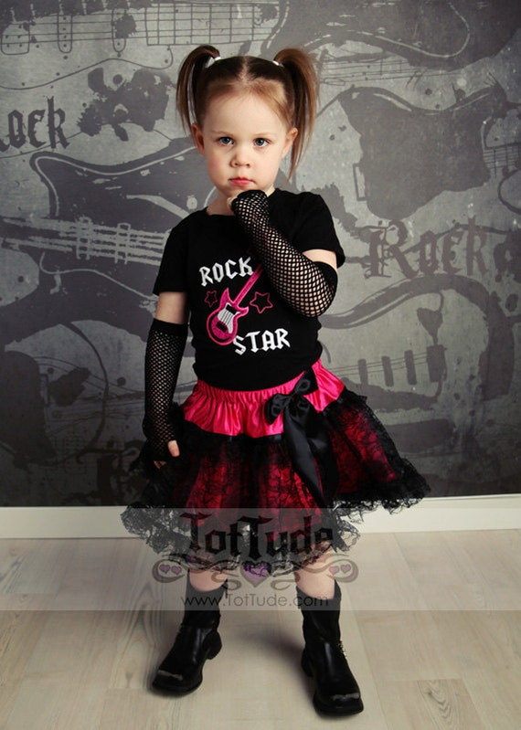 Rock Star Pettiskirt Set for Toddler Girls