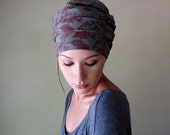 MY VICTORIAN HEART Head Scarf - Vintage Inspired Hair Wrap - Hair Accessories for Women - Fashion Scarf with Botanical Print