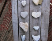 Rustic Garden Series Heart-Shaped Rocks Greeting Card