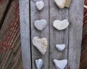 Rustic Garden Series Heart-Shaped Rocks Greeting Card