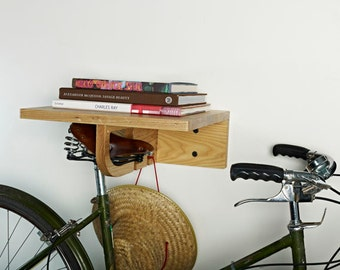 the bikeall indoor bike rack shelf with hooks - Indoor Bike Rack