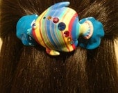 Barrette Extra Large for Thick Hair/ Fish Art