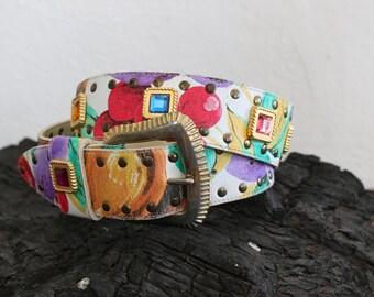 floral gemstone belt - M/L