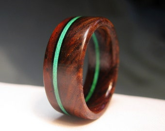Wooden Ring - Stained Wood Stripe