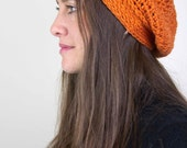 Orange Slouch Hat - READY TO SHIP