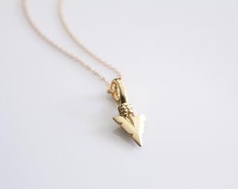 Arrowhead Necklace // Gold or Silver