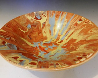 Terracotta-slip swirl bowl