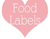 Food Tent Labels - A LA CARTE - Printable