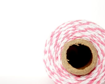 12 PLY Blossom Pink Baker's Twine; Cotton Twine