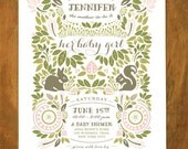 Woodland (Spring) Invitation - GIRL