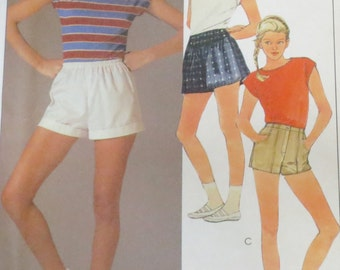 Uncut Vintage 1980s Top & Shorts Sewing Pattern Bust 38 Waist 30 McCall's 9134