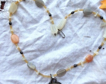 Moonstone and Sterling Choker