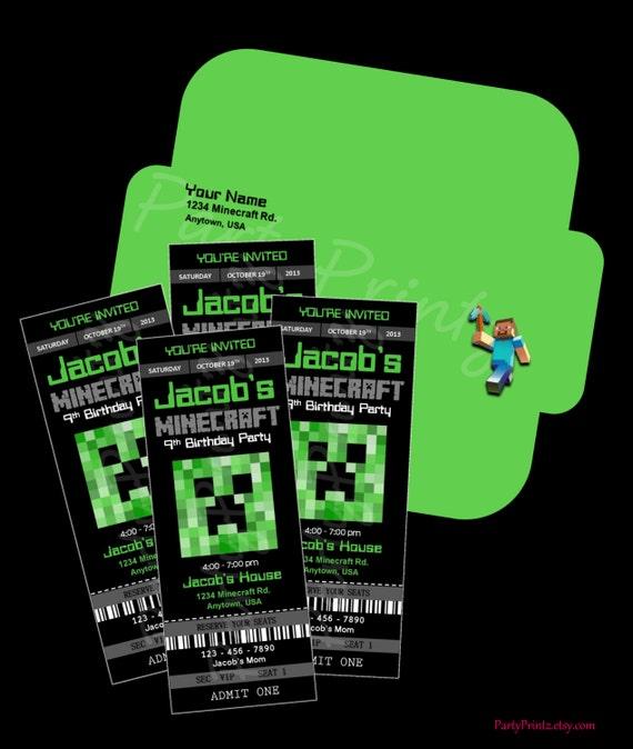 Minecraft Birthday Invitations Free was beautiful invitations ideas