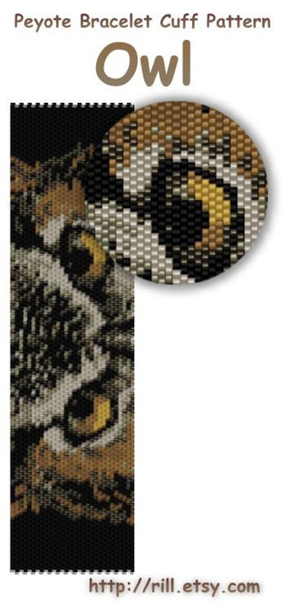 Сова - филин - схема браслета