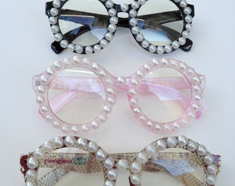 Rave Light Show Glasses - Circle with pearls