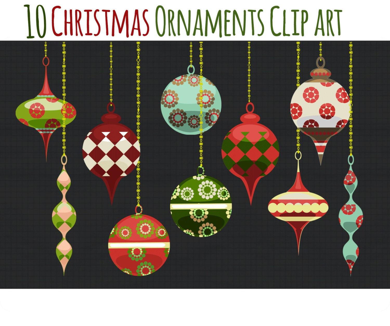 Christmas Clip Art Christmas Ornaments Clipart Holiday