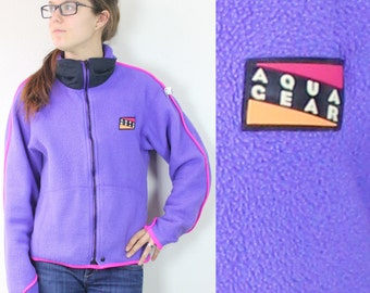 "SALE Vintage Retro Light Purple Nike ""Aqua Gear"" Fleece Zip Up"