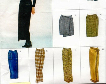 Vogue Easy Options Pattern 2029 Misses Very Easy Skirts 6-10 UNCUT
