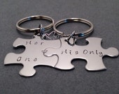 Boyfriend Girlfriend Gift, Couples Keychains, Her One His Only Puzzle Keychains, Gift for her, His Hers Keychains, Couples Gift Ideas