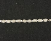 """Vintage Sterling Silver """"Forget Me Not"""" Bracelet with RARE Greeting- 7 1/2 inches - FREE SHIPPING"""