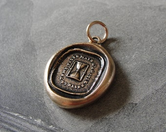 wax seal charm - Time Passes But The Friendship Remain