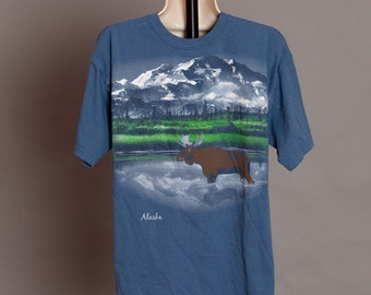 ALASKA Tshirt - Moose Lake Mountains - L
