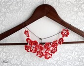 Crochet Necklace - Crochet Jewelry - Crochet Collar - Etsy Gifts
