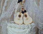 Guitar wedding cake topper-musician-wedding cake topper-guitar-music-instrument-musical-guitar wedding-rock star