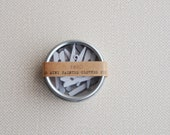 mini clothes pins white hand painted (10 clothespins)